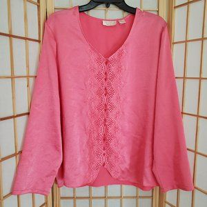 Victoria Secret Button Front Night Shirt Sz L